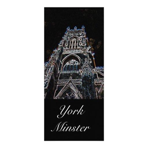 Marcador do preto da igreja de York Panfletos Informativos Personalizados
