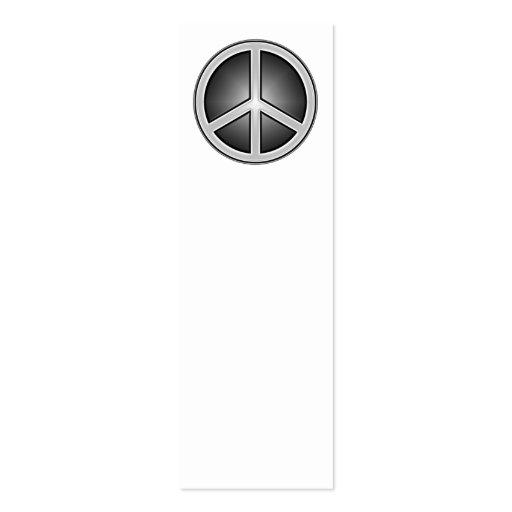 Marcador do sinal de paz cartoes de visita