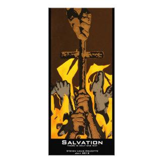 """Marcador do valor do """"salvação"""" 10.16 x 22.86cm panfleto"""