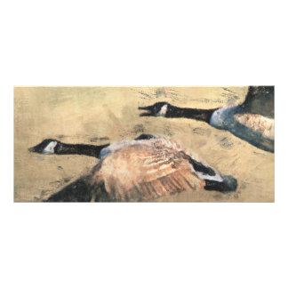 Marcador dos gansos do vôo 10.16 x 22.86cm panfleto