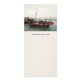 Marcador dourado de Hong Kong da balsa do dragão 10.16 X 22.86cm Panfleto