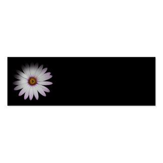 Marcador florais da margarida mini cartão de visita