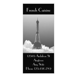 Marcador francês do marketing da culinária da 10.16 x 22.86cm panfleto