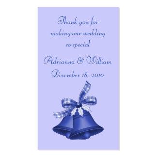 Marcador - Natal Bels no azul Modelos Cartões De Visitas