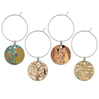 Marcador Para Taças De Vinho Arte Nouveau por Klimt