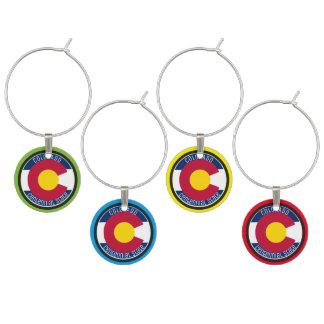 Marcador Para Taças De Vinho Bandeira da circular de Colorado