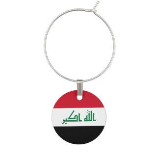 Marcador Para Taças De Vinho Bandeira de Iraque
