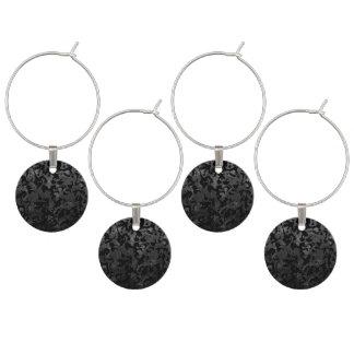 Marcador Para Taças De Vinho Camuflagem cinzenta preta e escura de Camo moderno