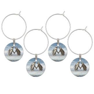Marcador Para Taças De Vinho Casal dos pinguins