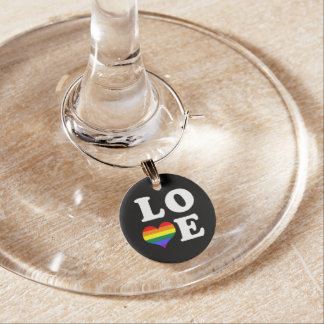 Marcador Para Taças De Vinho Coração do orgulho gay do amor