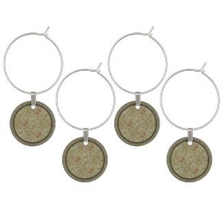 Marcador Para Taças De Vinho Design floral do impressão da arte do salgueiro do
