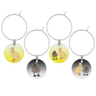 Marcador Para Taças De Vinho Fotografias amarelas e cinzentas adoráveis do