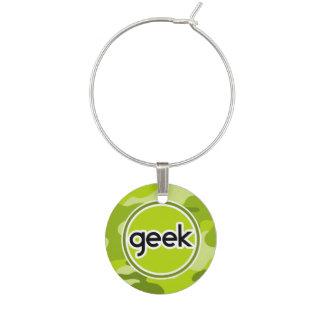 Marcador Para Taças De Vinho Geek; camo verde-claro, camuflagem