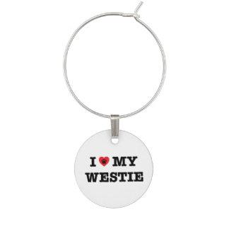 Marcador Para Taças De Vinho Mim coração meu encanto do vinho de Westie