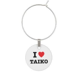 Marcador Para Taças De Vinho Mim coração Taiko