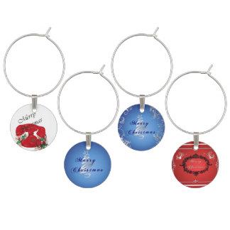 Marcador Para Taças De Vinho Natal tradicional