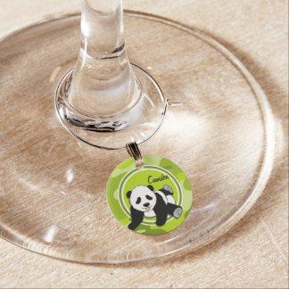 Marcador Para Taças De Vinho Panda do bebê; camo verde-claro, camuflagem