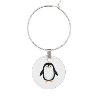 Marcador Para Taças De Vinho Pinguim bonito do bebê