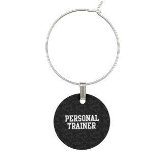 Marcador Para Taças De Vinho Time do colégio pessoal do preto do instrutor