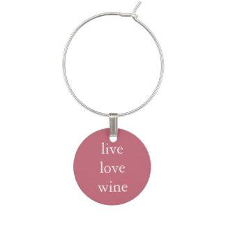 Marcador Para Taças De Vinho Vinho engraçado que diz - vinho vivo do amor