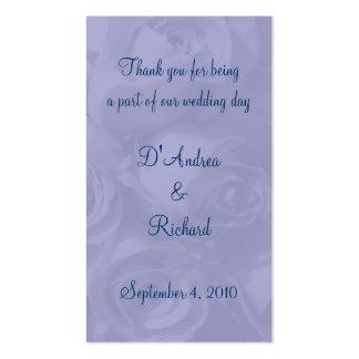 Marcador - rosas no azul empoeirado cartão de visita