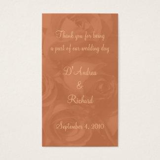 Marcador - rosas no pêssego empoeirado [a] cartão de visitas