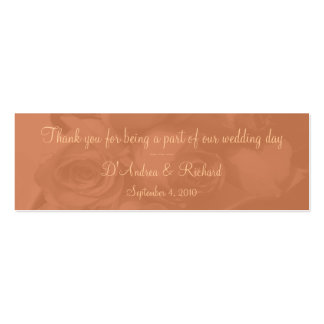 Marcador - rosas no pêssego empoeirado [b] cartão de visita skinny