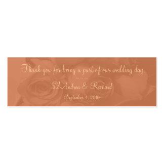 Marcador - rosas no pêssego empoeirado [b] cartões de visitas