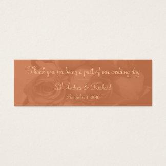 Marcador - rosas no pêssego empoeirado [b] cartão de visitas mini