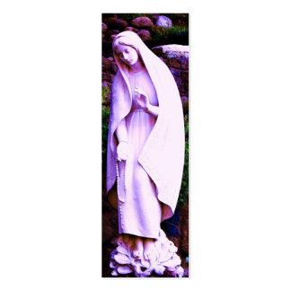 MARCADOR roxo da Virgem Maria Cartão De Visita Skinny