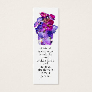 Marcador roxo do Wallflower Cartão De Visitas Mini