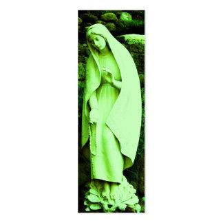 MARCADOR verde da Virgem Maria Cartão De Visita Skinny