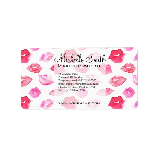 Marcagem com ferro quente cor-de-rosa da etiqueta de endereço