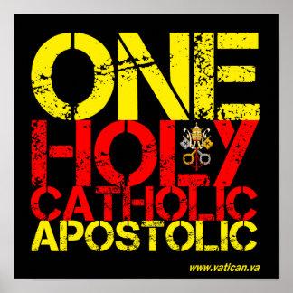 Marcas da igreja Católica Poster