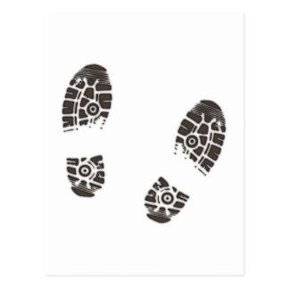 Marcas de sapato prints shoe cartões postais