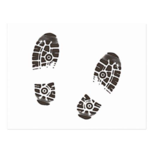 Marcas de sapato prints shoe cartão postal