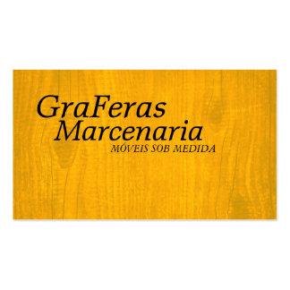 Marcenaria - 5,1 cm x 8,9 cm, com 100 cartões cartão de visita