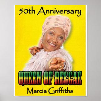 Marcia Griffiths o aniversário da reggae Posters