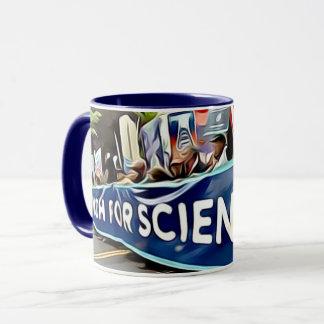 Março para a caneca de café da ciência