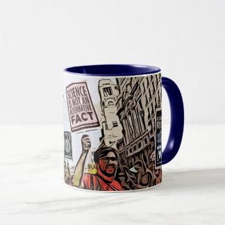 Março para a caneca de café dos protestadores da