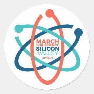 Março para a etiqueta 2 de SV da ciência