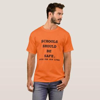 Março para nossa laranja da camisa das vidas