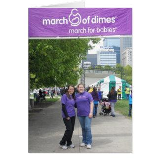 Março para os cartões de agradecimentos 2012 dos