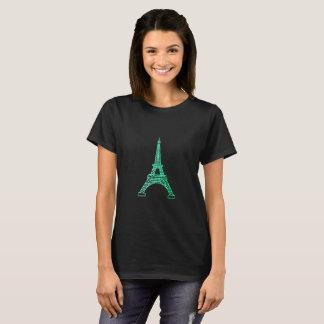 Marcos - a camisa da mulher da torre Eiffel