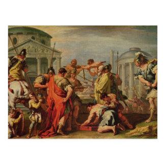 Marcus Furius Camillus e Brennus Cartão Postal