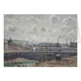 Maré baixa em Duquesne Doca, Dieppe, 1902 Cartão Comemorativo