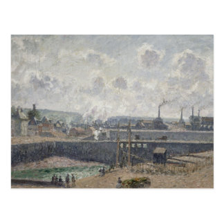 Maré baixa em Duquesne Doca, Dieppe, 1902 Cartão Postal
