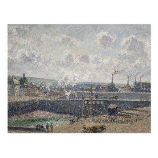 Maré baixa em Duquesne Doca, Dieppe, 1902 Cartoes Postais