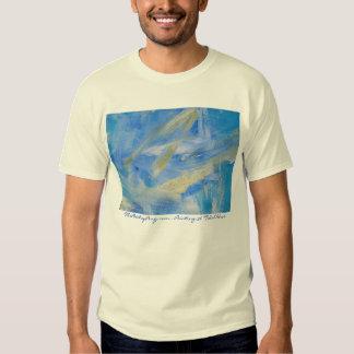 Maremoto abstrato da pintura 36 t-shirt