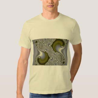 Maremoto dividido abstrato do ouro camiseta